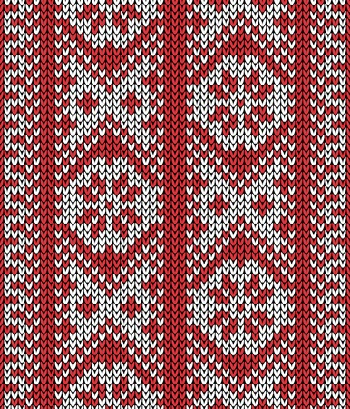 Seamless pattern on the wool knitted texture Vector