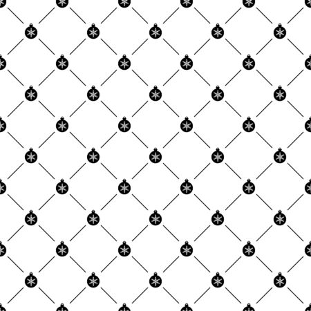 Seamless simple pattern with Christmas ball, can be used for web page background Vector