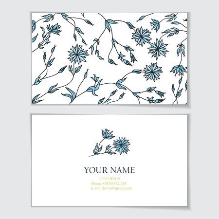 identidad cultural: Plantilla de tarjeta de visita. Tarjeta de visita, invitaci�n, saludo patr�n card.Floral