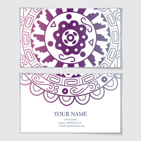 identidad cultural: Plantilla de tarjeta de visita o tarjeta de visita, invitación o tarjeta de felicitación