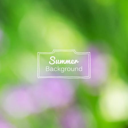 gradient mesh: Vector blurred nature summer green background. Gradient mesh used. Illustration