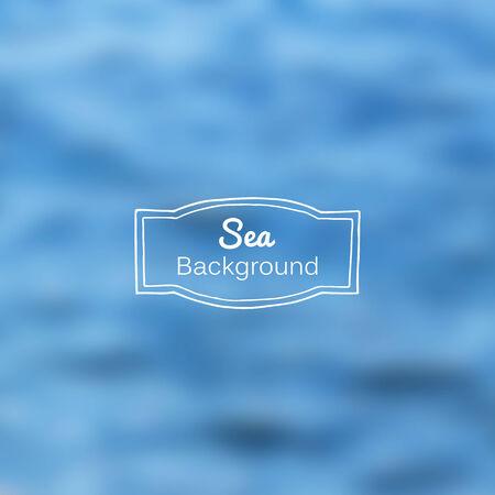 gradient mesh: Vector blurred nature sea blue background. Gradient mesh used
