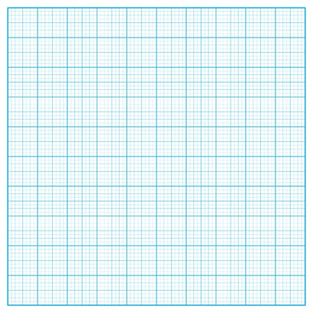 inch: Vector square inch blue grid on white background