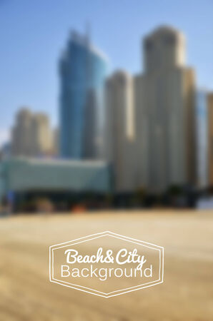 gradient mesh: Blurred day beach and city background. Gradient mesh used