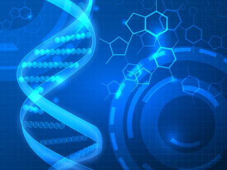 DNA 벡터 의료 배경, 비즈니스, 의료, 과학 프리젠 테이션에 사용할 수 있습니다