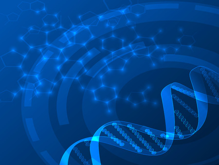 DNA vector medical background, can be used for business, medical, science  presentation Vector