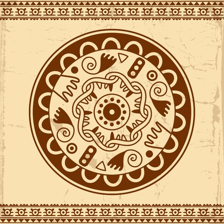 used ornament: Beautiful Mexican ethnic ornament, can be used for  invitation or greeting card Illustration