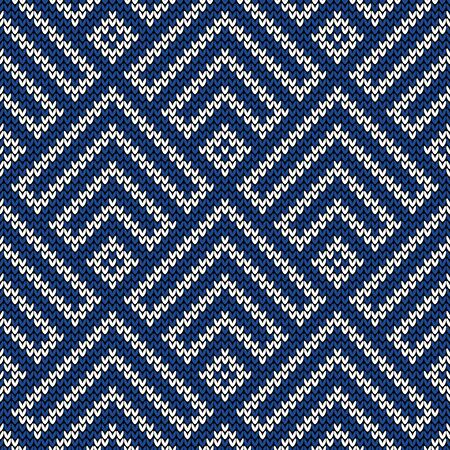 knitted: Seamless pattern on the wool knitted texture