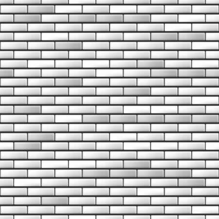 white brick: Seamless realistic white brick wall. Vector illustration