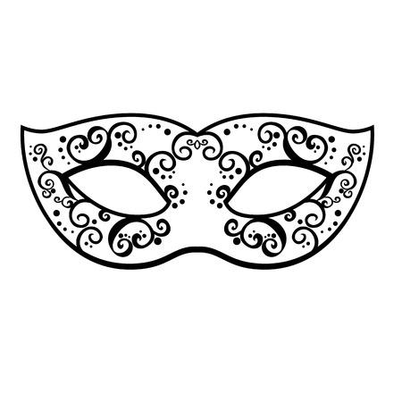venetian: Vector black venetian carnival mardi gras party mask.