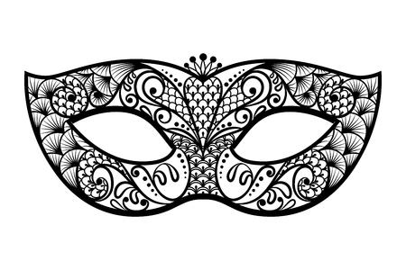 masque: Vector black venetian carnival mardi gras party mask.