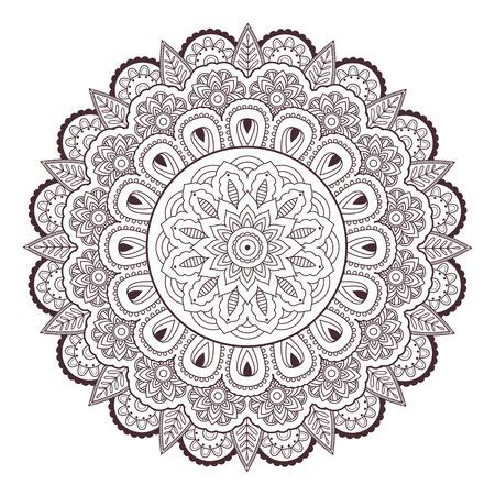 Henna paisley mehndi tattoo doodle seamless vector pattern Illustration