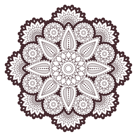 Henna paisley mehndi tattoo doodle seamless vector pattern Illustration
