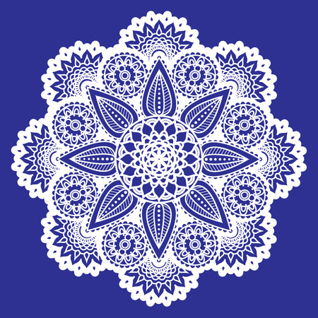 Vector circle ornament for laser cutting,  paisley doodle vector