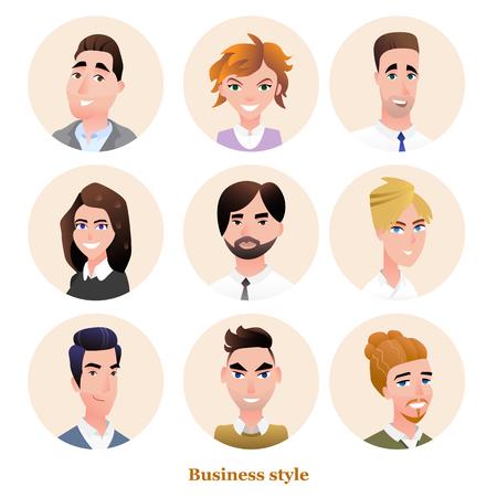 Business people avatars vector set Ilustração