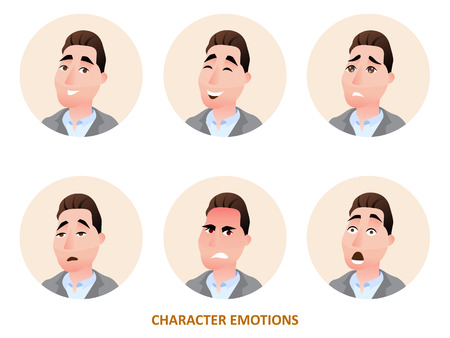 Character avatars emotions in circle