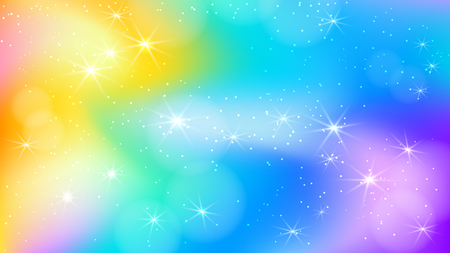 Fairy princess rainbow cute vector background