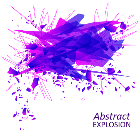 Abstract explosion geometric background