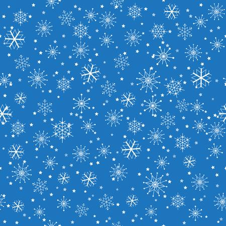 Seamless Christmas snowflakes pattern Ilustração
