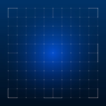 Grid for futuristic hud interface