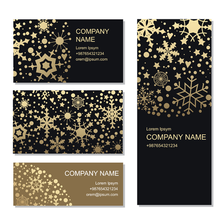 Set of business or invitation cards templates, corporate identit Ilustrace
