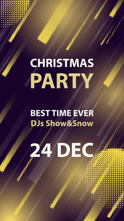 Christmas night club party vector flyer or poster. Ilustrace