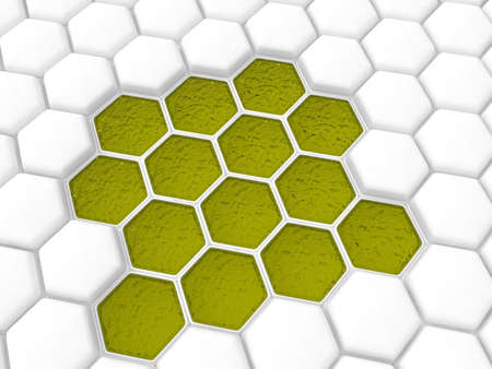 Bee honeycombs 3D Stock Photo - 16461281
