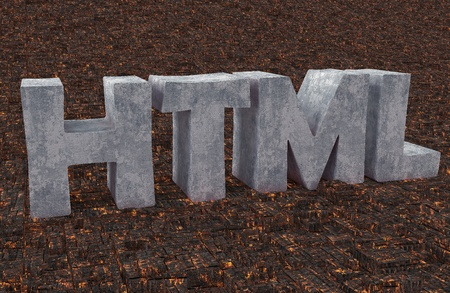 Logo HTML for webmasters and web sites Stock Photo - 16691411