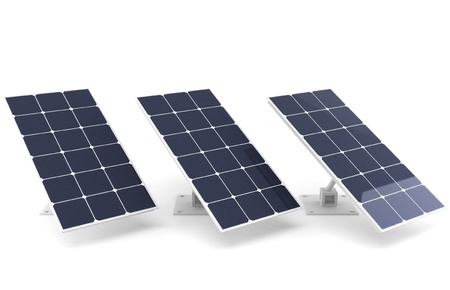 Solar battery - net planet Stock Photo - 16806973