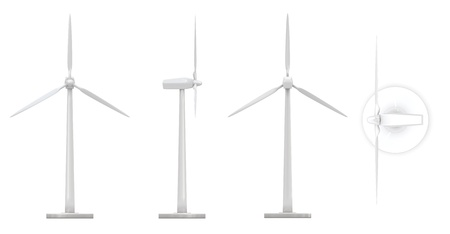 Wind mill -  clean energy winds