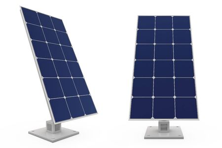 Future,of the use of solar batteries Stock Photo - 16921066