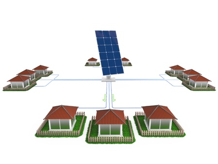 Production of electricity for residential solar panels