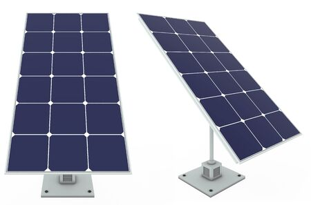 Solar battery - net planet - saving in  house Stock Photo - 17570204