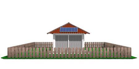 確保陽光住宅和度假建築節能 版權商用圖片