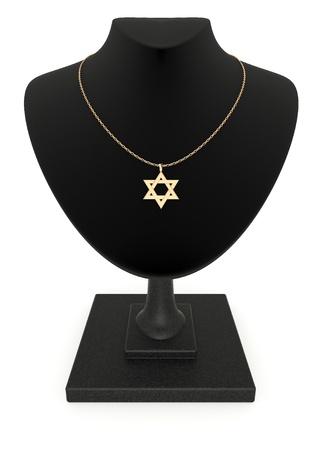 大衛在金鏈首飾的目的之星