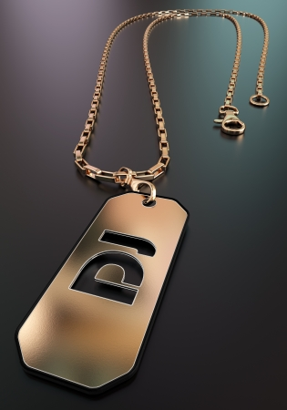 Badge of a DJ from gold Stock Photo