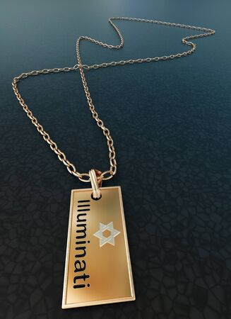 Gold badge of the Illuminati Stock Photo