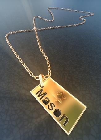 偉大的梅森的金色徽章