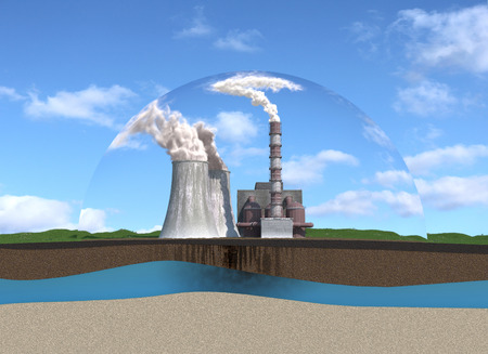 Pollution of the atmosphere and hydrosphere of the earth