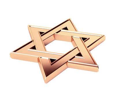 six-pointed Star of David, Buffon Stock Photo