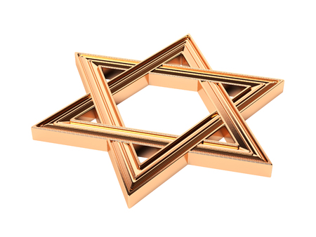 six-pointed Star of David, Buffon Stock Photo