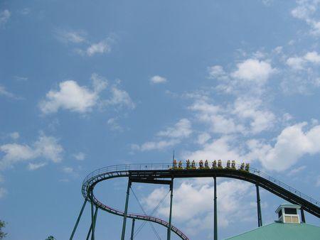 roller: Skyrider stand-up roller coaster