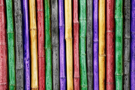 colorfu: beautiful Japanese colorfu glassl bamboo background Stock Photo