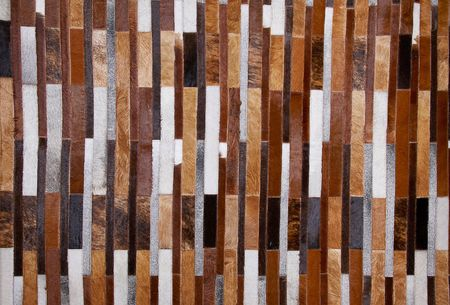carpet of cowhide texture in different cuts photo