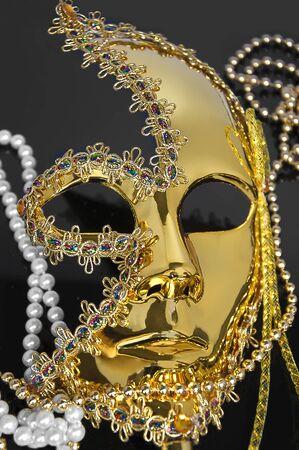 carnival Venice, Italy mask isolated on black Stock Photo - 8257994