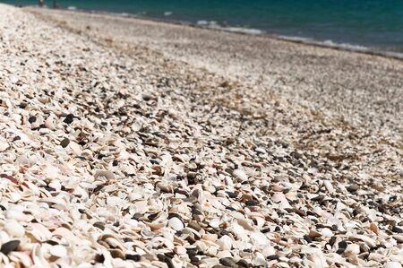 bailiwick: Shell Beach on Herm and sea view