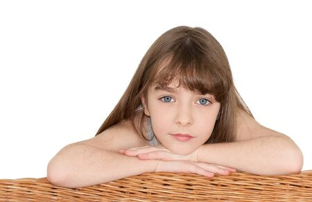 cute little girl looks into the camera Stock Photo - 11781162