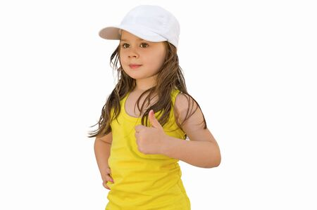 little girl with the thumb up photo