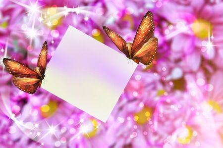 card with butterflies photo