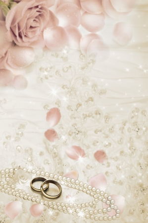Pair of golden wedding rings.  Stock Photo